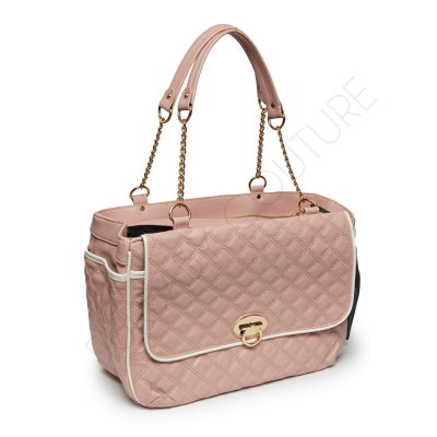 Signature Pink Quilted Travel Bag